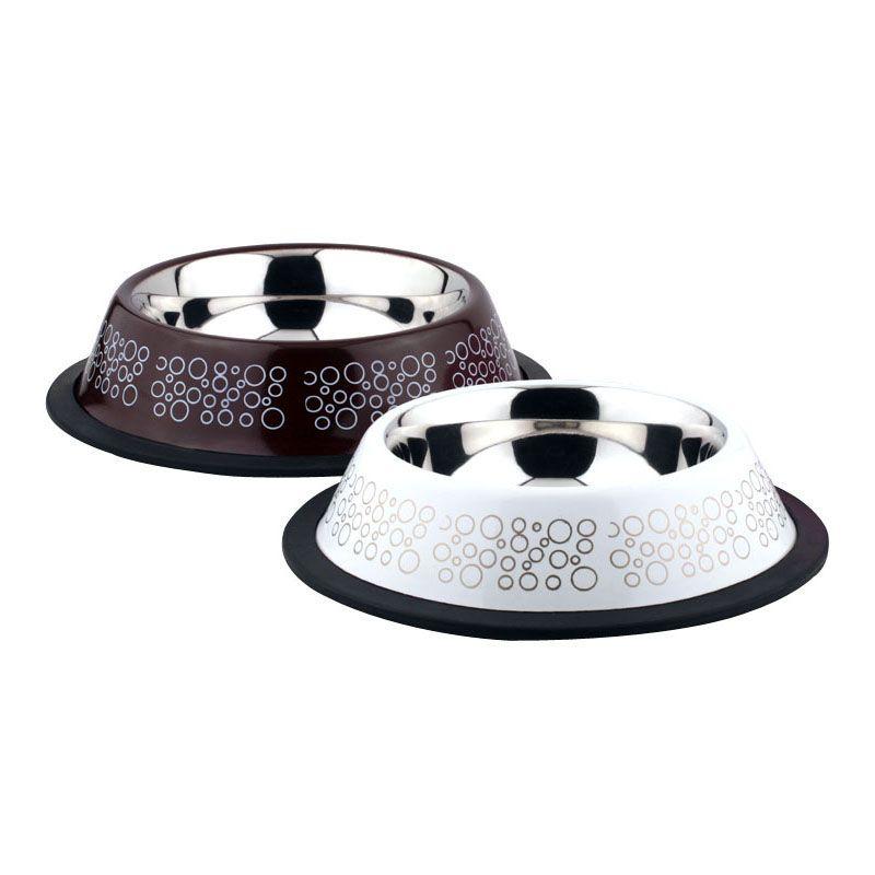 Миска для животных Foxie Circle Bowl металлическая 200мл миска для животных foxie сковородка оранжевая керамическая 16х13х3см 200мл