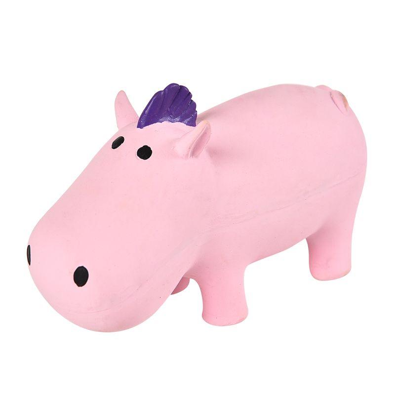 Игрушка для собак Foxie Бегемот с пищалкой 13см латекс розовый игрушка для животных multipet утка с пищалкой цвет розовый
