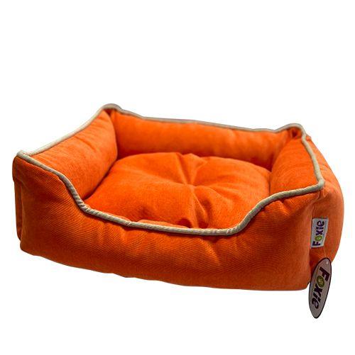Лежак для животных Foxie Colour 70х60х23см оранжевый сумка переноска для животных foxie colour 37х22х21см розовая