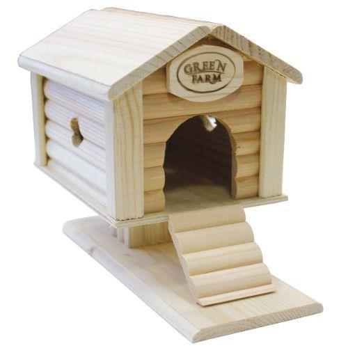 Дом для грызунов GREEN FARM Избушка на курьих ножках для мелких грызунов И-605