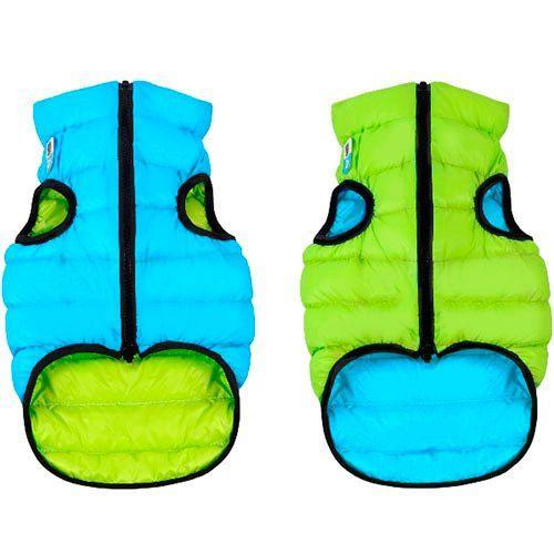 купить Куртка для собак AiryVest двухсторонняя размер L 65см салатово-голубая дешево