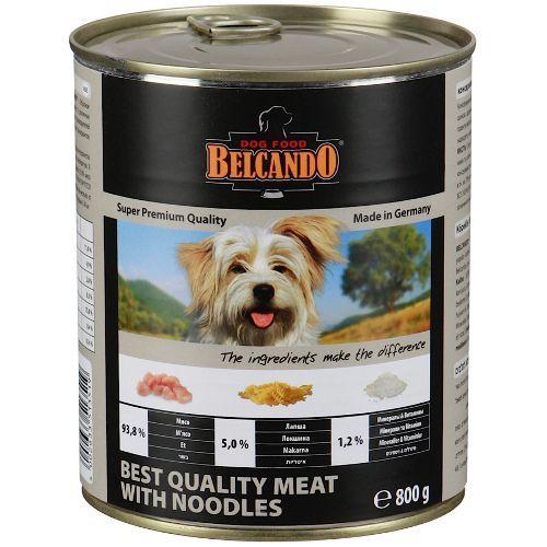 Корм для собак Belcando Мясо, лапша конс. 800г пельмени стародворье сливочные 800г