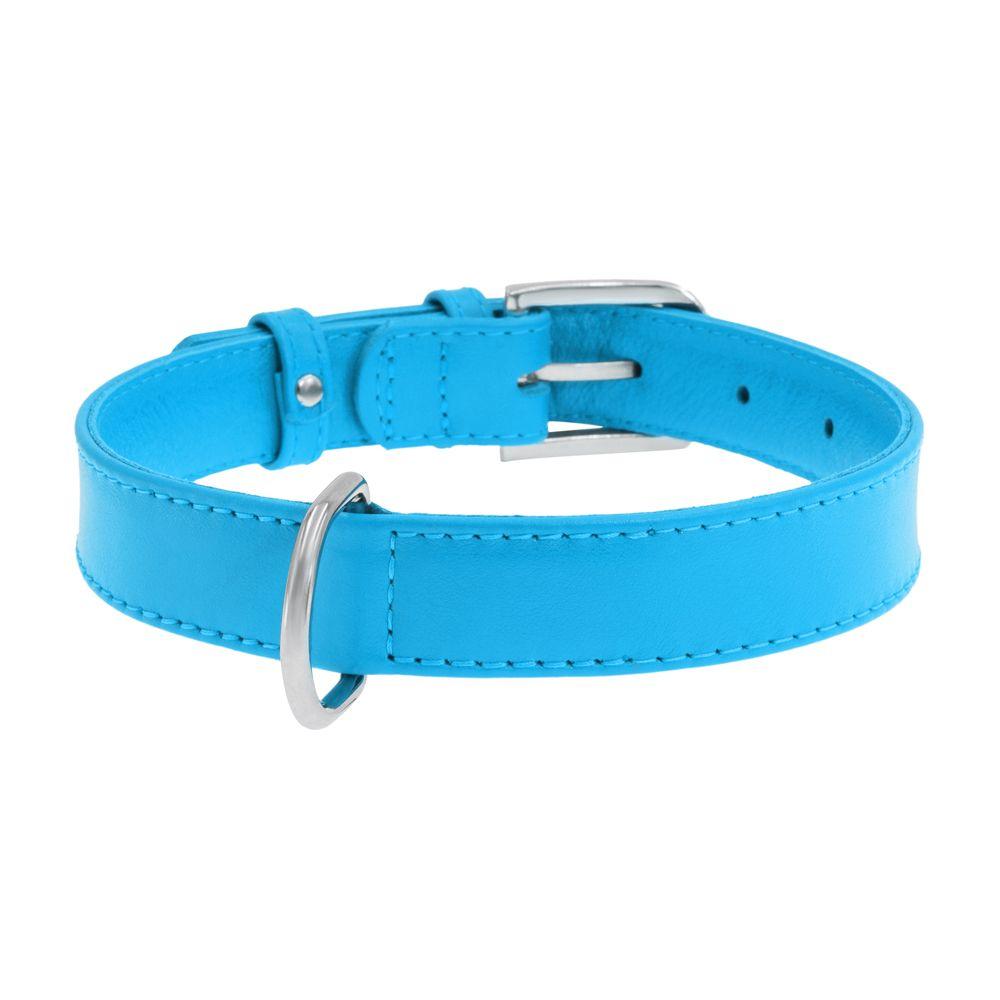 Ошейник для собак COLLAR Glamour без украшений 15мм, 27-36см синий