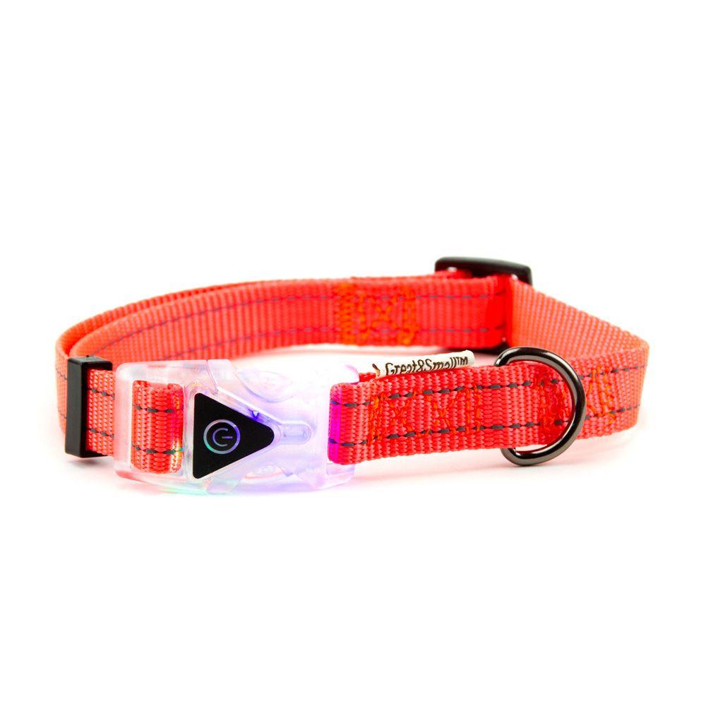 Ошейник для собак Great&Small со светящейся застежкой 400-550мм оранжевый светильник для растений uniel uli p10 10w spfr ip40 white светодиодный линейный 550мм
