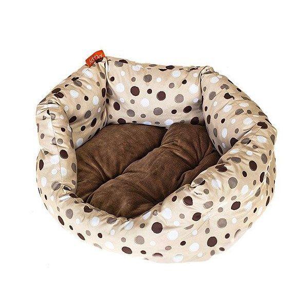 Лежак для собак Геометрия HAPPY PUPPY Горошек бежевый-2 50х40х15см лежак для животных happy puppy русские сказки 2 48х39х15см