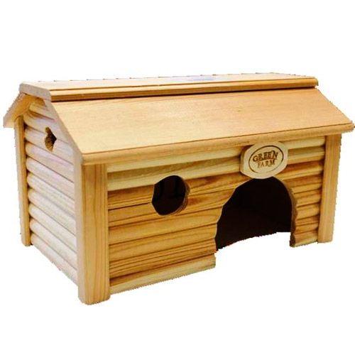 Дом для грызунов GREEN FARM Баня для морской свинки И-231 18х28х16 см баня для детей