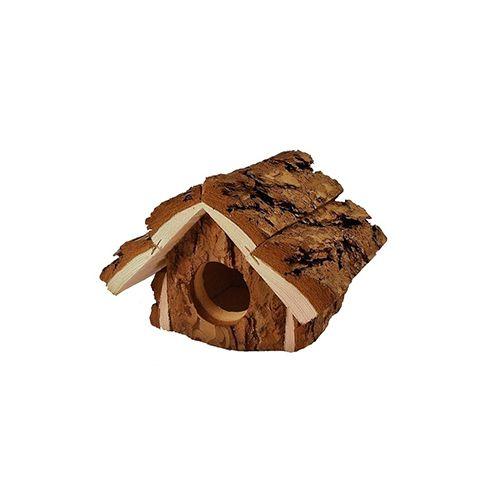 Домик для грызунов ZooM из неокоренного дерева Избушка 12х16,5хh12см