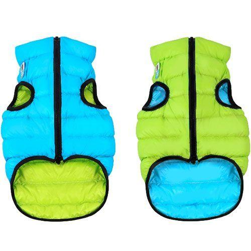 цена Куртка для собак AiryVest двухсторонняя размер XS 25см салатово-голубая онлайн в 2017 году
