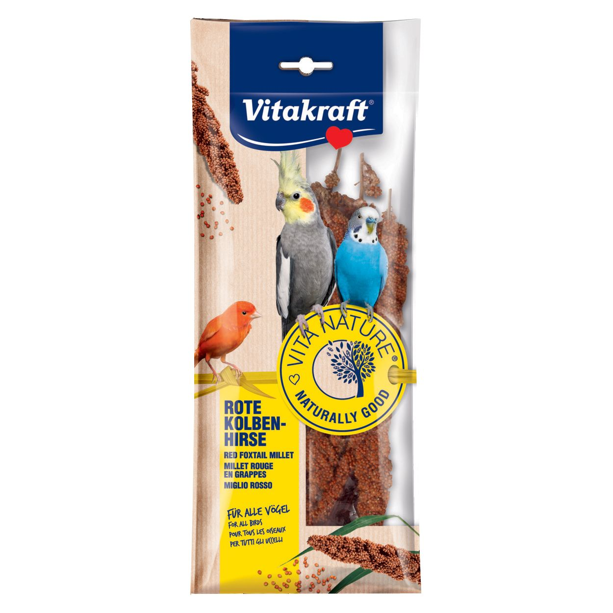 цены Лакомство для птиц VITAKRAFT NATURE просо красное 80г
