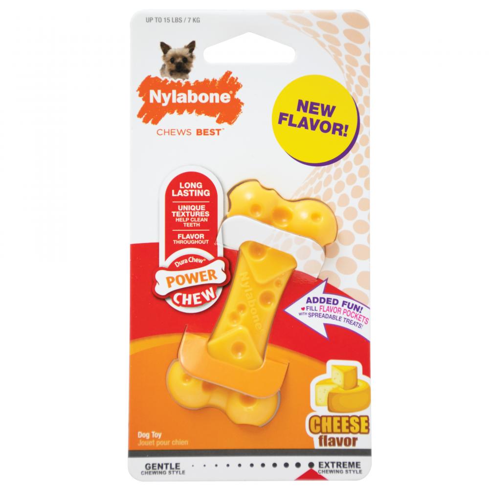 Игрушка для собак Nylabone Косточка экстра жесткая с ароматом сыра XS