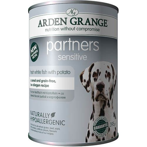Корм для собак ARDEN GRANGE Белая рыба, картофель, конс. 395г arden grange arden grange puppy large breed