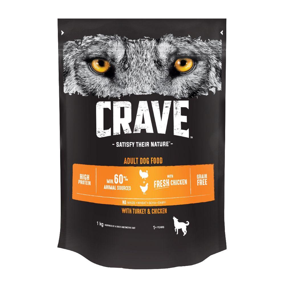 Корм для собак Crave Курица, индейка сух. 1кг