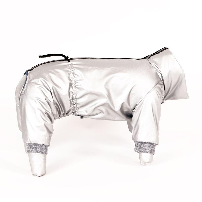 цена Комбинезон для собак YORIKI Глазурь серебряная унисекс р-р S 20см онлайн в 2017 году