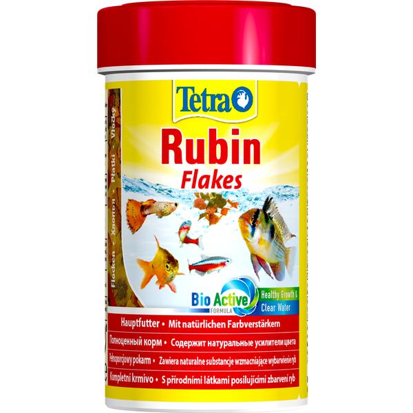 Корм для рыб TETRA Rubin в хлопьях для улучшения окраса всех видов рыб 100мл корм для рыб tetra goldfisch colour в хлопьях для улучшения окраса золотых рыб 12г