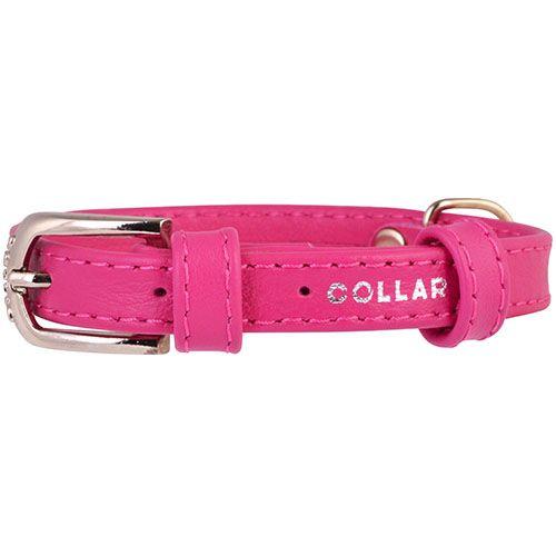 Ошейник для собак COLLAR Glamour без украшений 20мм 30-39см розовый