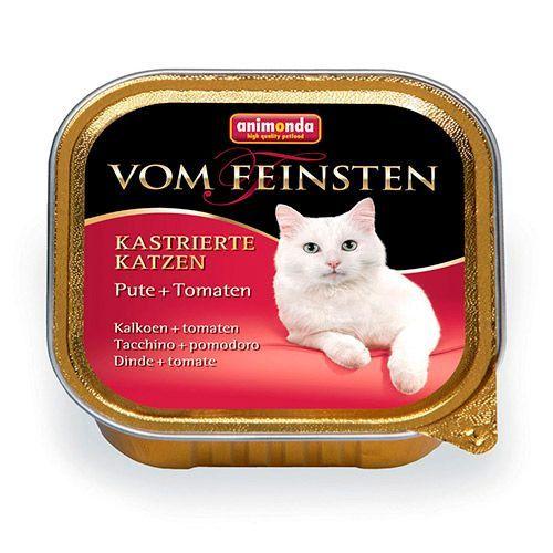 Корм для кошек Animonda Vom Feinsten для кастрированных кошек индейка, томаты конс.