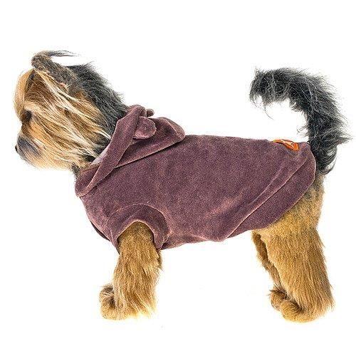 Куртка для собак HAPPY PUPPY Гламур коричневая 2 24см куртка wild life с ушками коричневая in extenso