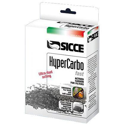 Наполнитель для фильтров SICCE Hypercarbo FAST активированный уголь 3x100г цена