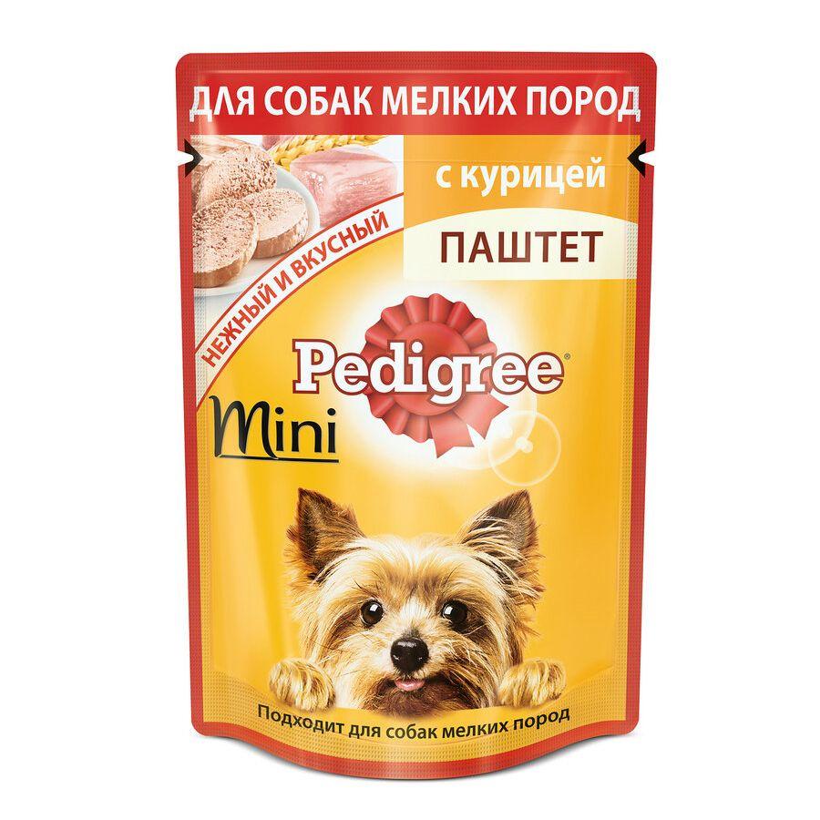 Фото - Корм для собак Pedigree для мелких пород паштет Курица конс. пауч 80г корм для собак pedigree мини с говядиной конс пауч 85г