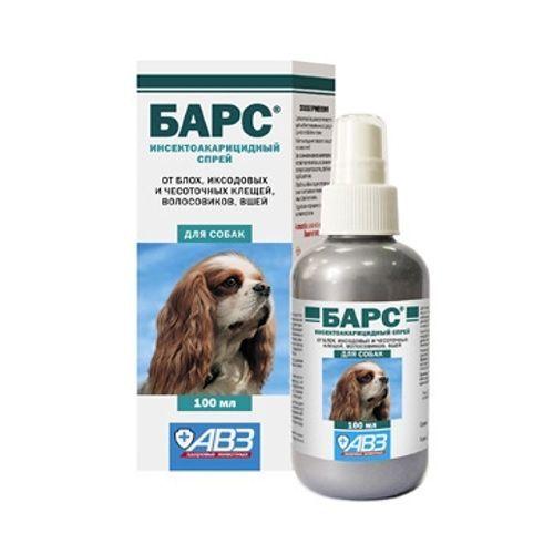 Спрей АВЗ БАРС инсектоакарицидный для собак 100мл