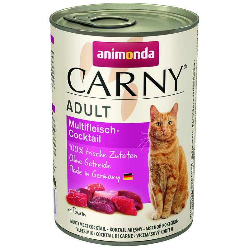 Корм для кошек Animonda Carny Adult коктейль из разных сортов мяса конс. 400г корм для котят animonda carny kitten курица кролик конс 200г