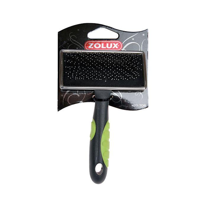 Фото - Пуходерка ZOLUX с каплей малая плоская салат. ручка zolux щетка пуходерка zolux самоочищающаяся м