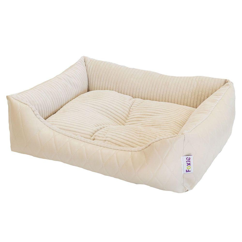 Фото - Лежак для животных Foxie Leather 60х50х18см белый лежак для животных foxie leather 70х60х23см красный