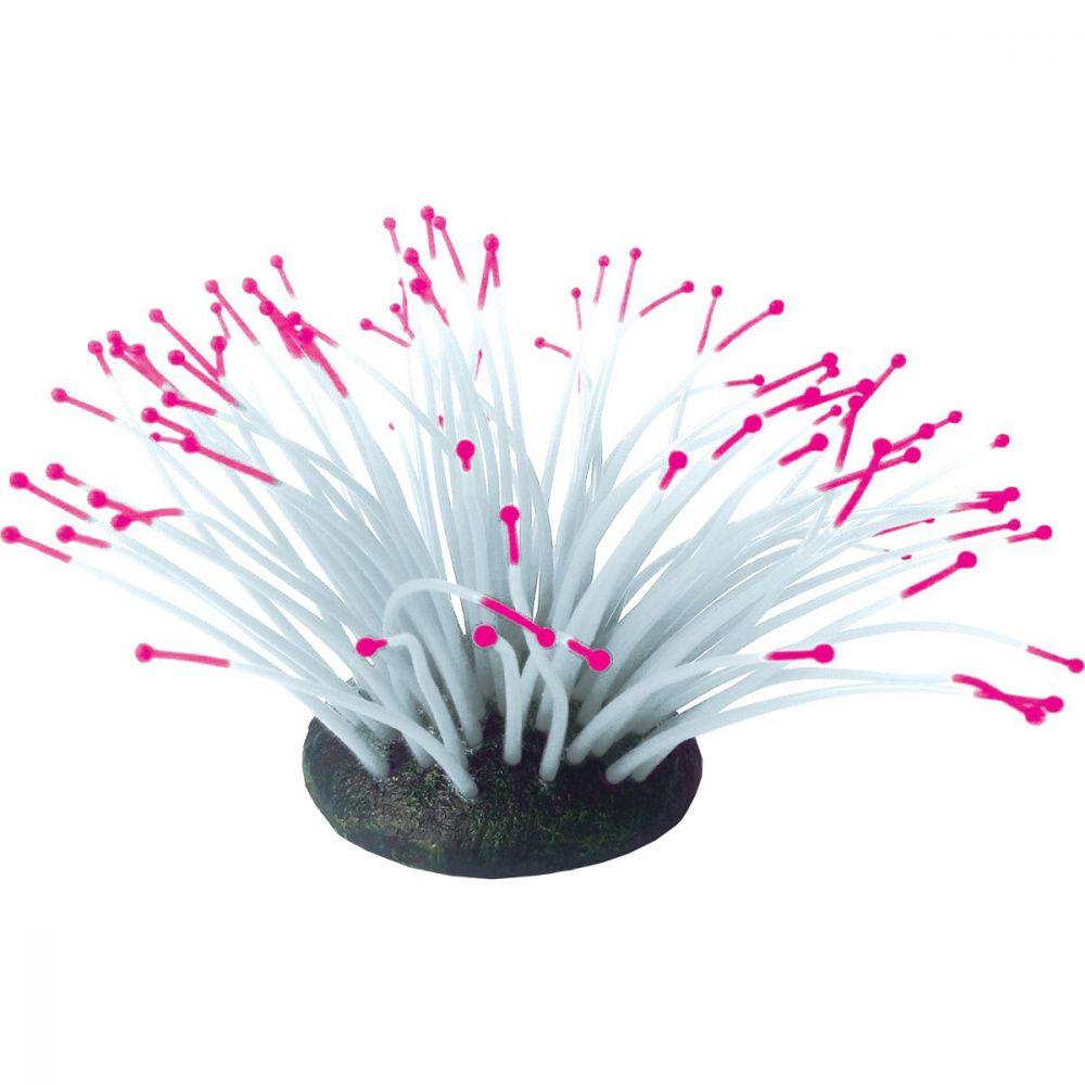 Декор для аквариумов JELLYFISH Коралл Актиния светящийся розовый 9,5х8,5х9см