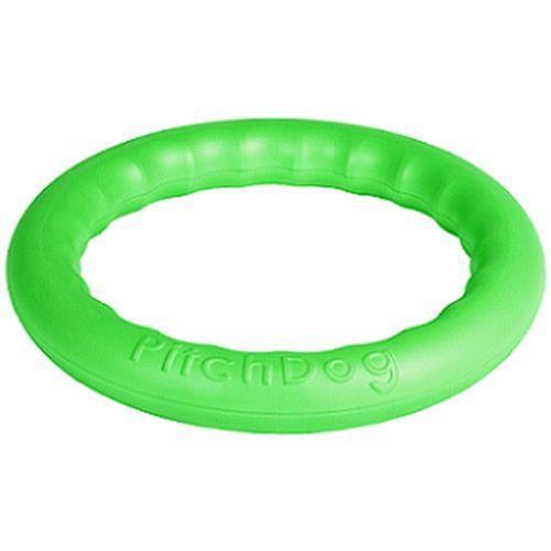 Игрушка для собак PitchDog Игровое кольцо для апортировки d28см зеленое