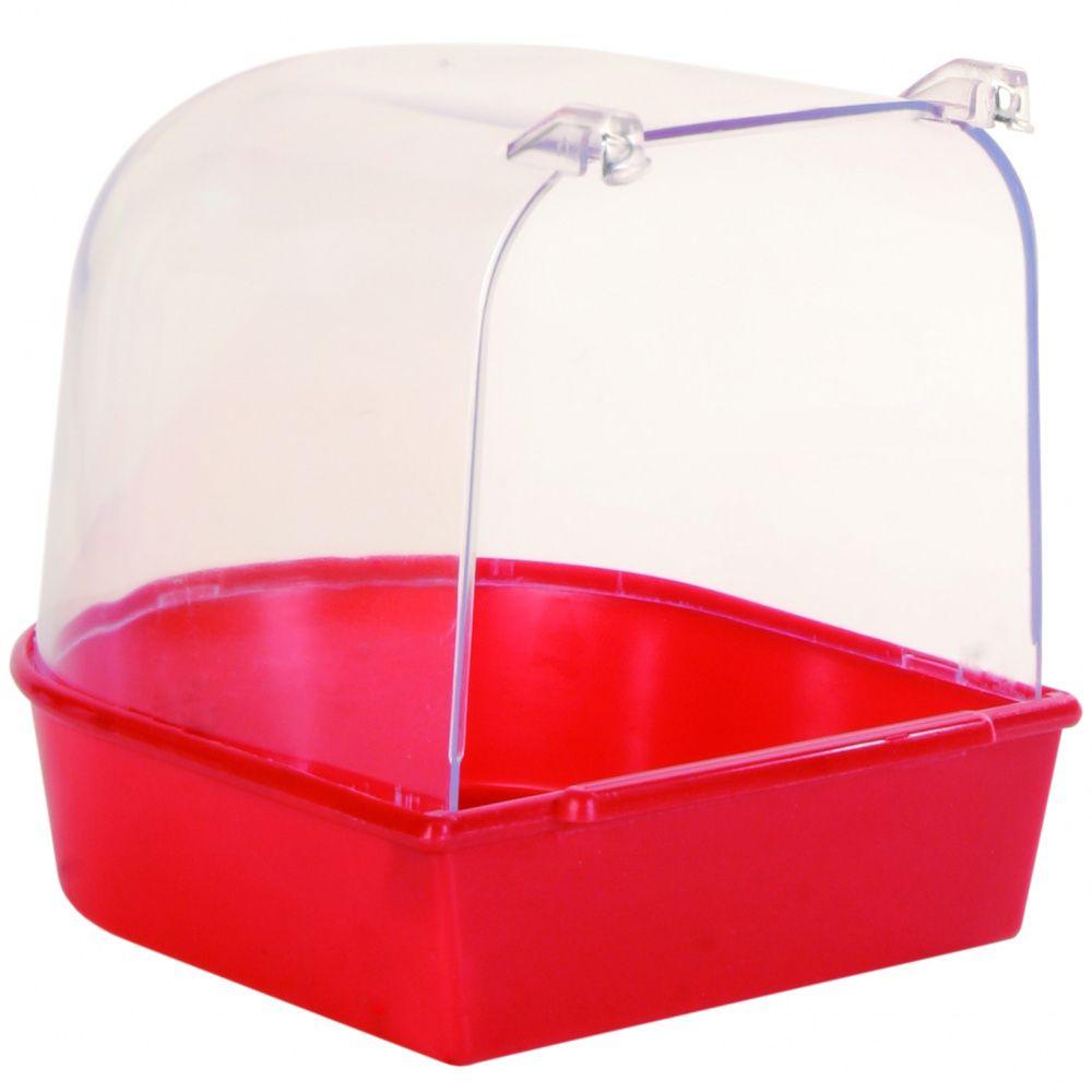 Купалка для птиц TRIXIE 12х12х12см купалка для птиц trixie 15х16х17см пластиковая прозрачно голубая для мелких и средних птиц целиковая