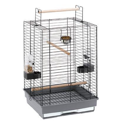 Клетка для птиц FERPLAST MAX 4 черная 50x50x75см