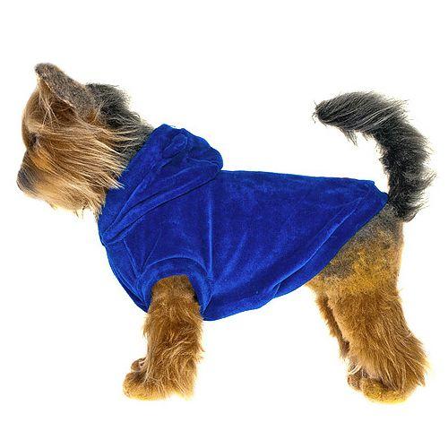 цена Куртка для собак HAPPY PUPPY Гламур синяя 3 28см онлайн в 2017 году