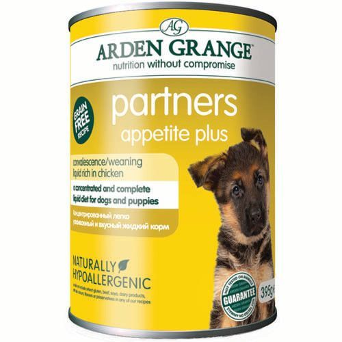 Корм для собак и щенков ARDEN GRANGE Суп с курицей (улучшает аппетит), конс. 395г grange