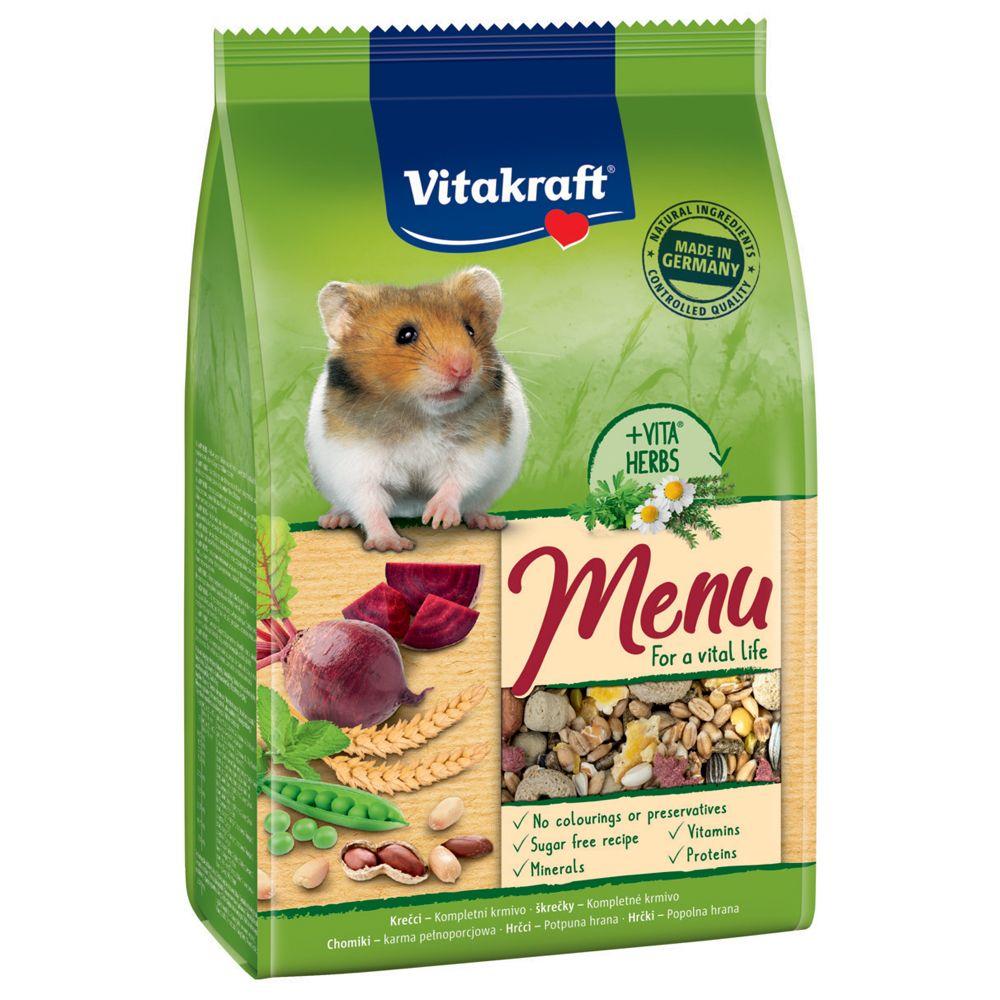Фото - Корм для грызунов VITAKRAFT MENU для хомяков сух. 400г корм для грызунов vitakraft для дегу сух 600г