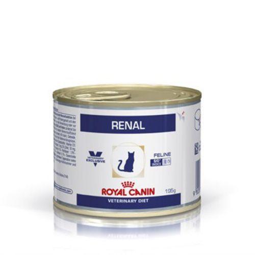 Корм для кошек ROYAL CANIN Vet Diet Renal при почечной недостаточности, курица конс. 195г корм для щенков royal canin роял канин junior до 10 месяцев конс 195г