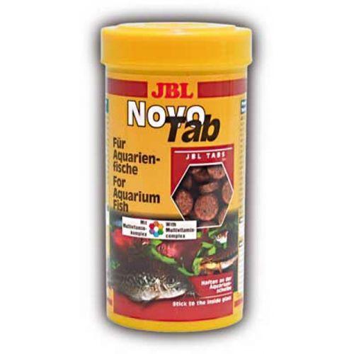 Корм для рыб JBL NovoTab - Корм в форме таблеток для всех видов аквариумных рыб, 250мл. (400шт) корм для рыб jbl novogranocolor основной в форме гранул для яркой окраски рыб в банке 250мл 120г