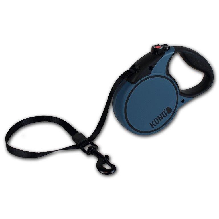 Рулетка для собак KONG Terrain L (до 50кг) лента 5м синяя