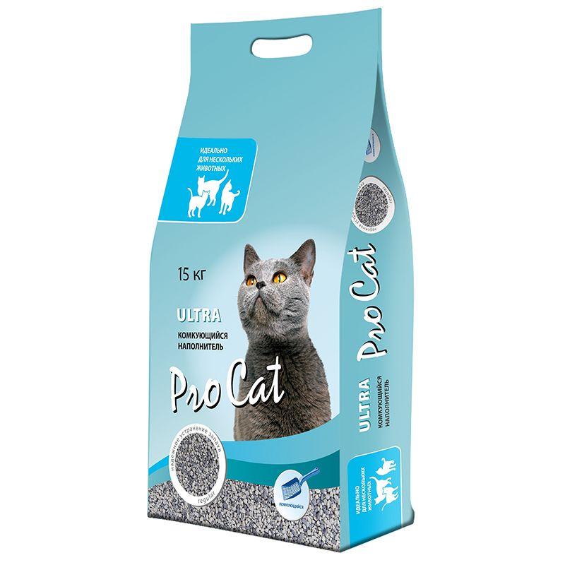 Наполнитель для кошачьего туалета Pro Cat ультра комкующийся 15кг