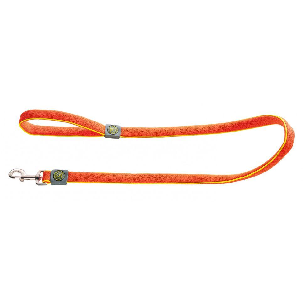 Поводок для собак HUNTER Maui 25/120 сетчатый текстиль оранжевый недорого