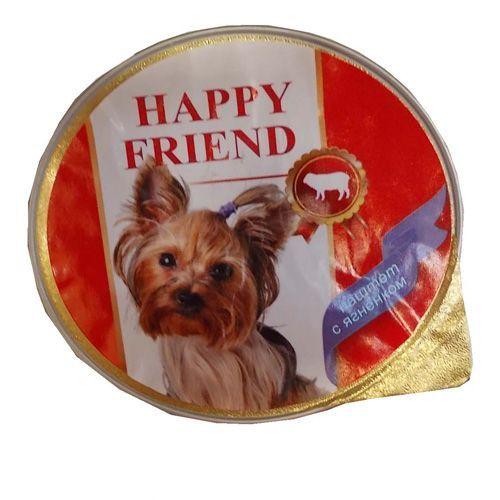 Корм для собак HAPPY FRIEND Паштет с ягнёнком конс. 125г