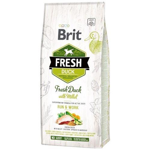 цена на Корм для собак Brit Fresh Утка с пшеном для активных собак сух. 12кг
