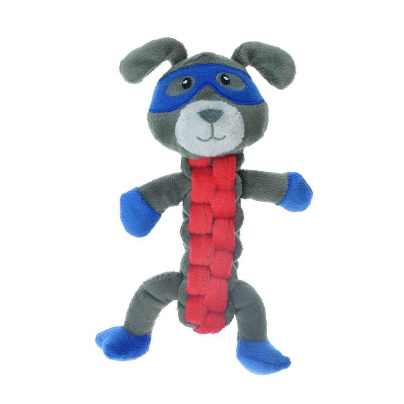 цена Игрушка для собак CHOMPER Spooky Собака с плетеным туловищем и пищалкой 24 см онлайн в 2017 году
