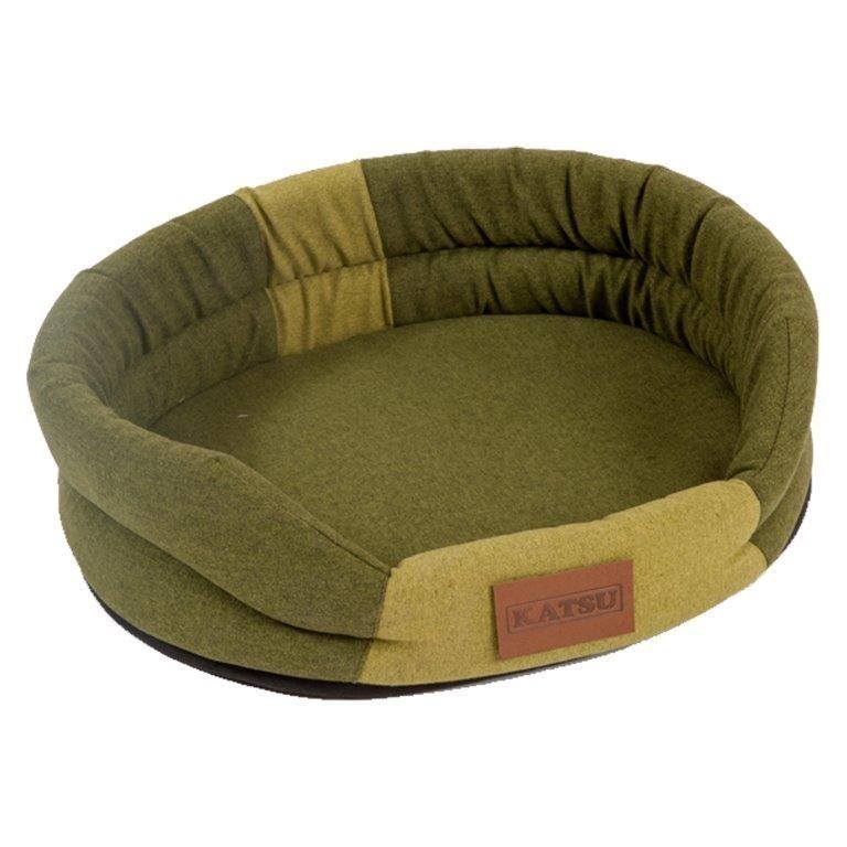 все цены на Лежак для животных KATSU Animal хаки/салатовый 65х54х15см онлайн