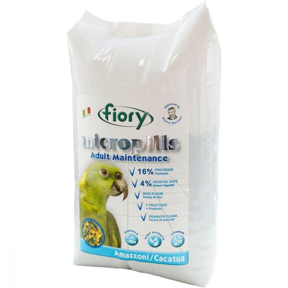 Корм для птиц Fiory Micropills Amazzoni/Cacatua для амазонских попугаев и какаду 1,4кг