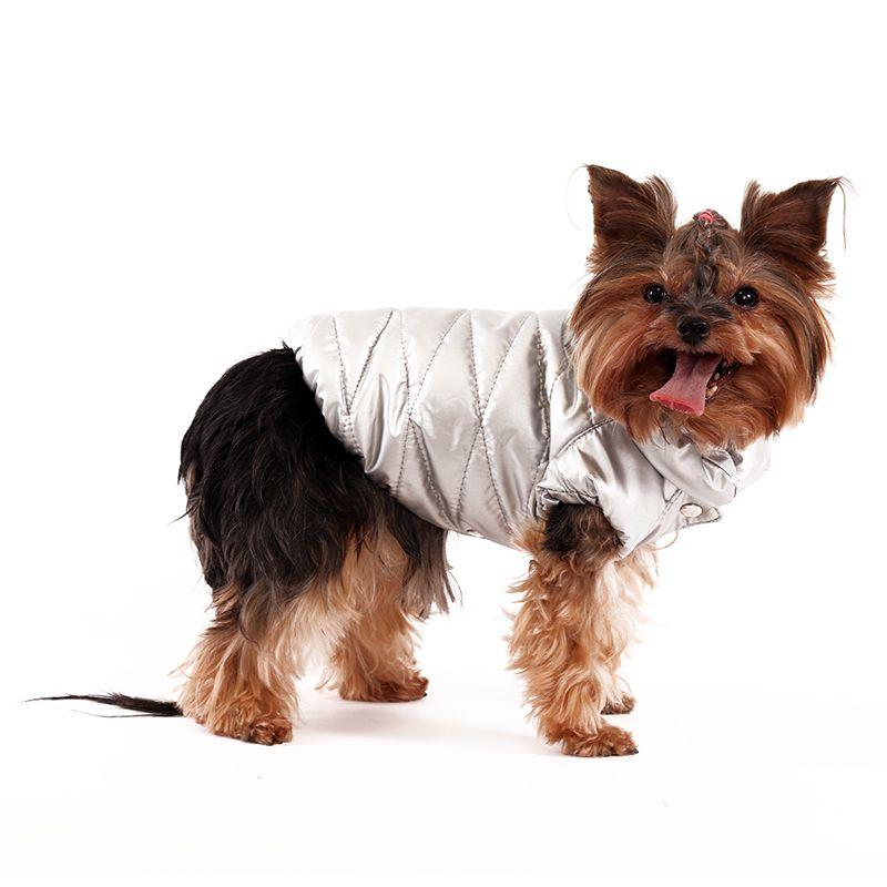 Куртка для собак YORIKI Серебро унисекс р-р S 20 см цена 2017