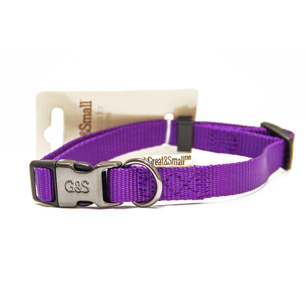 Ошейник для собак Great&Small 20x350-550мм нейлон Фиолетовый