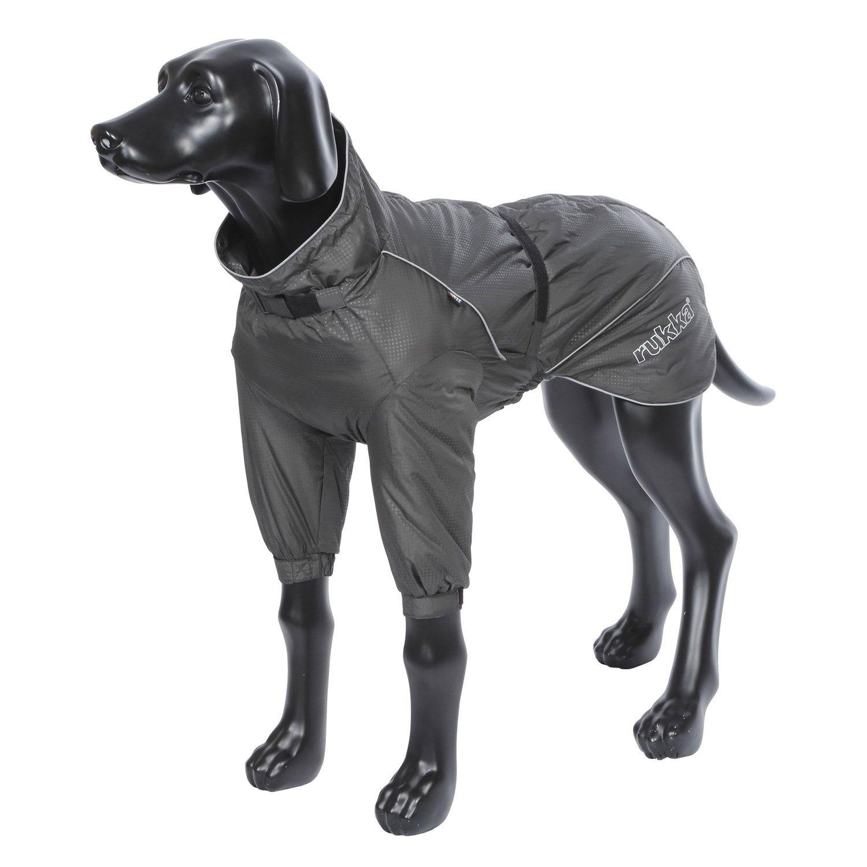 Полукомбинезон для собак RUKKA Snowflake Hybridsuit черный 30см зимний