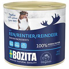 Корм для собак BOZITA мясной паштет с оленем конс. 625г