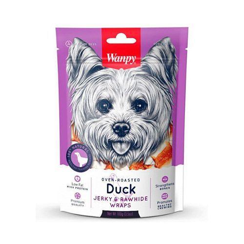 филе из оленины wanpy dog 100г Лакомство для собак WANPY Dog кости из сыромятной кожи с утиным мясом 100г