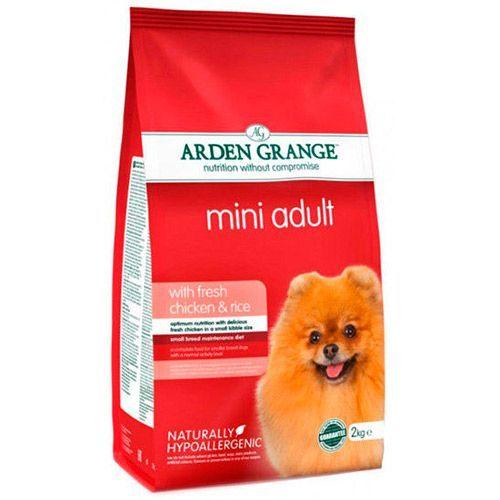 Корм для собак ARDEN GRANGE для мелких пород, курица, рис сух. 2кг корм для собак pro pac алтимэйт курица коричневый рис сух 2 5кг